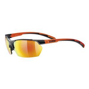 Gafas Uvex Sportstyle 114 negro mate naranja