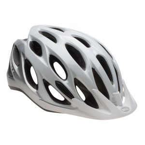 Casco Bell Traverse blanco plata