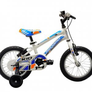 Bicicleta infantil Megamo 14″ Kid Boy azul blanco