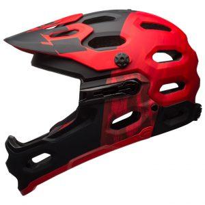 Casco Bell Super 3R rojo mate negro