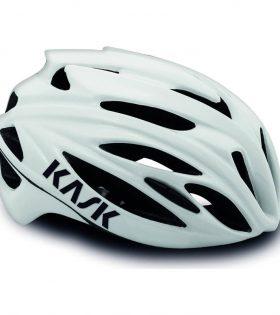 casco kask rapido blanco