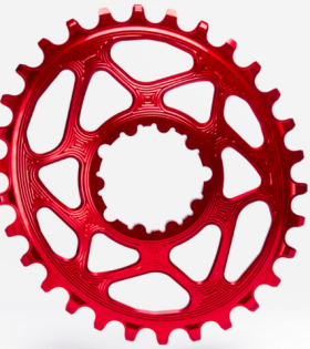 Plato Oval SRAM Direct Mount GXP Absolute Black Rojo