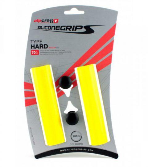 Puños SiliconeGrips HARD amarillos