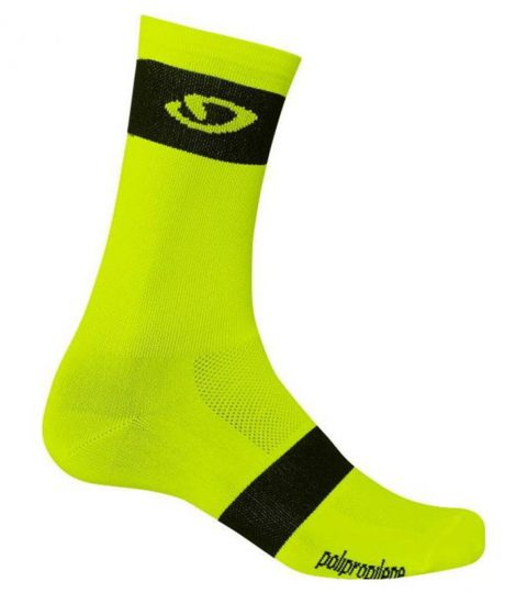 calcetines giro comp racer amarillo