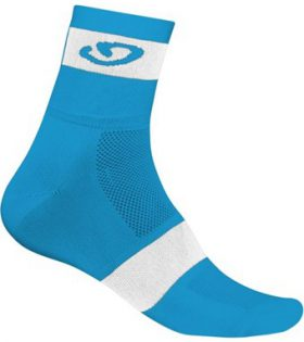 calcetines giro comp racer ankle blanco azul