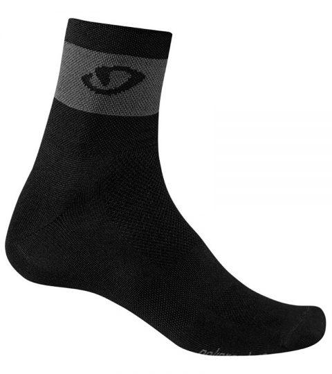 calcetines giro comp racer negro gris