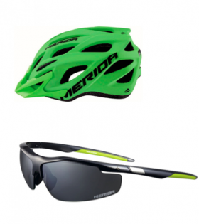Set Casco Charger 2 y Gafas Expert Merida