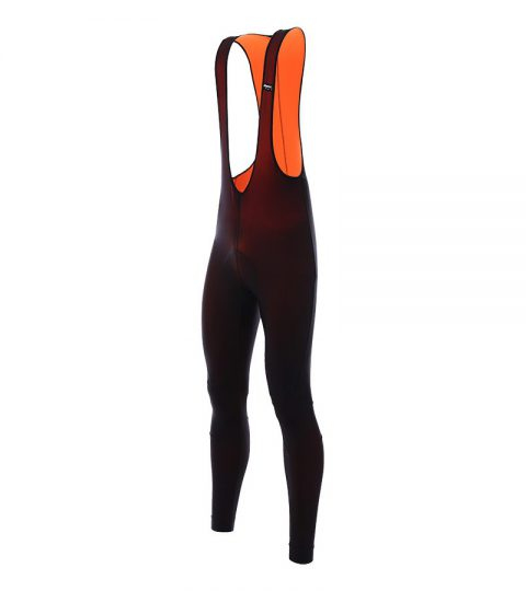 Culote Santini Lava 365 Thermal Bibtights negro naranja
