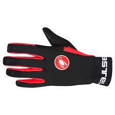 guantes castelli scalda negro rojo