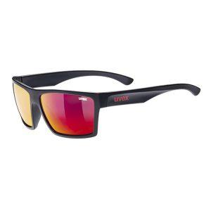 Gafas Uvex LGL 29 negro mate rojo