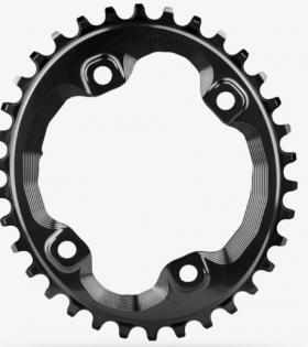 Plato ovalado Absolute Black para Shimano M8000 Y MT700