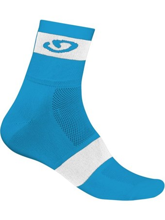 calcetines giro comp racer ankle blanco azul