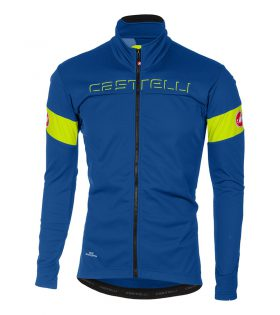 Chaqueta Castelli Transition Windstopper azul amarillo