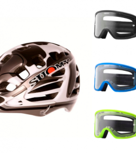 Conjunto Casco Enduro más gafas Giro Tempo MTB