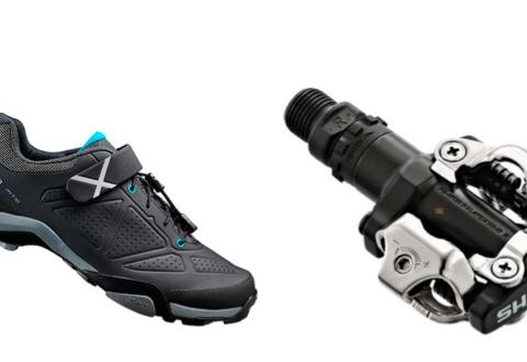 en venta fcb96 914bf Zapatillas Shimano MT5 para MTB negro y Pedales Shimano M520