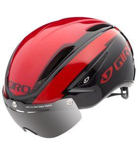 casco giro air attack shield rojo negro oferta