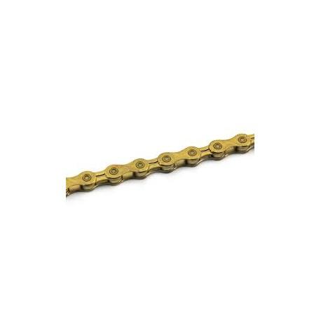 Cadena 12 velocidades color Oro Yaban SLA1210 Ti 126 Eslabones