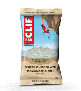 Clif Bar - Barrita Energética 1 barrita x 68 gr Sabor chocolate blanco macadamia