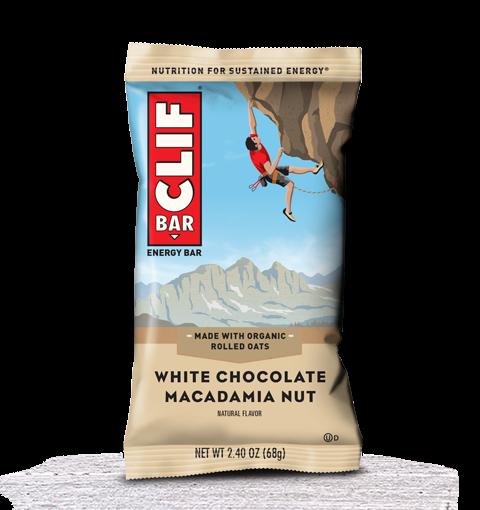 Clif Bar – Barrita Energética 1 barrita x 68 gr Sabor chocolate blanco macadamia