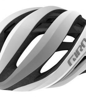 casco giro aether blanco mate plata