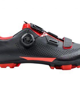 Zapatillas Fizik Terra X5 Negro Rojo 2019
