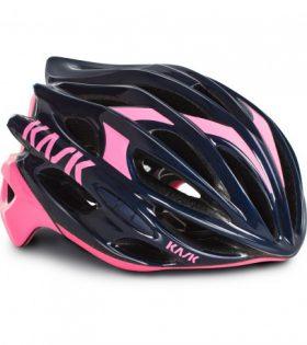 casco kask mojito azul rosa
