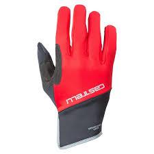 guantes castelli scalda pro rojo