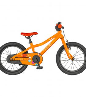 La Roxter 16 de SCOTT es nuestra bicicleta para ciclistas jóvenes que buscan un estilo inspirado en la competición, y es muy funcional.