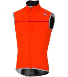 Chaleco Castelli Perfetto Vest Windstopper color naranja talla XL