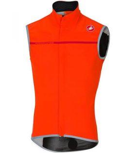 Chaleco Castelli Perfetto Vest Windstopper color naranja talla XL