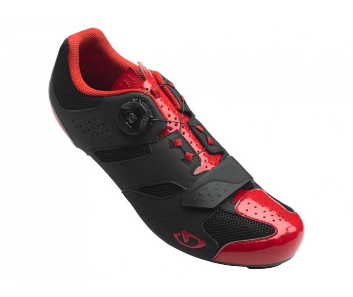 zapatillas-giro-carretera-savix-negro-rojo-brillo