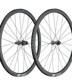 Juego de ruedas DT Swiss PRC 1400 Spline Disc 35 para Tubeless
